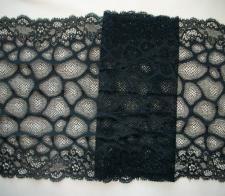 Spitzenband schwarz 20cm Meterware