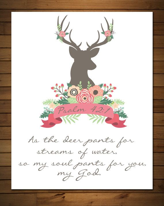 Psalm 42:1 As the Deer pants for the water scripture by GrayFrames