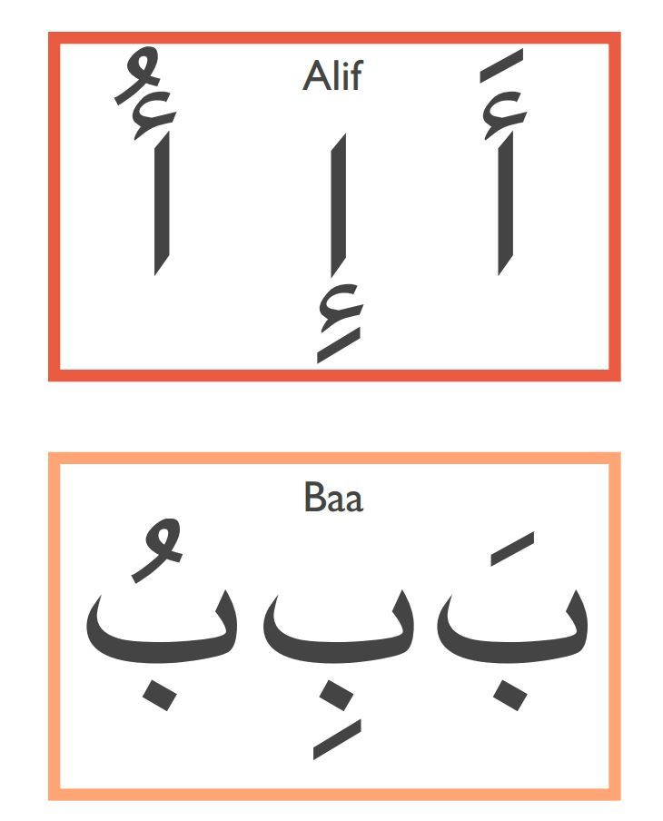 Tarbiyah Homeschool's Arabic Alphabet Harakat Flashcards