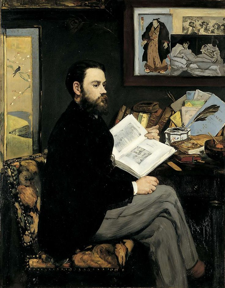 Emile Zola, by Manet