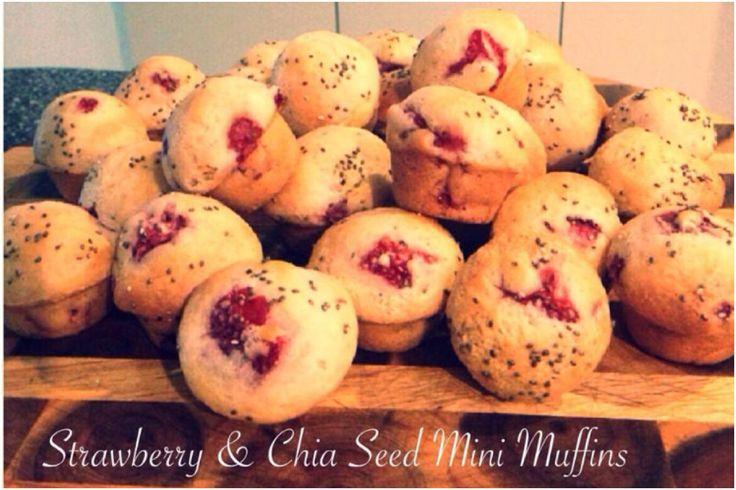 Strawberry & Chia Seed Mini Muffins