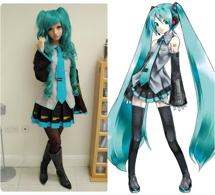 Hatsune Miku Cosplay Wig and Circle Lenses in http://goo.gl/xoSk5J ... Wig