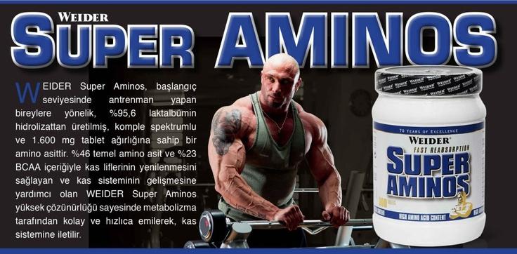 WEIDER SUPER AMİNOS   http://www.weiderturk.com/amino-asitler/weider-super-aminos-300-tablet.html