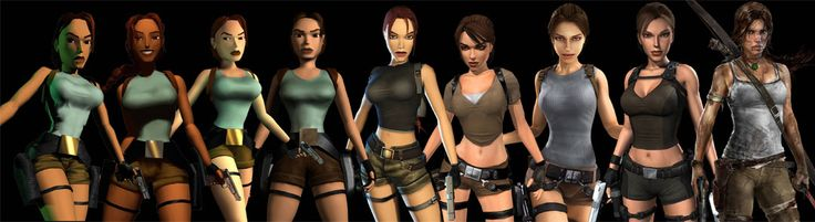 Tomb Raider's 20th Anniversary Evolution of Lara Croft