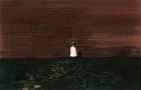 Lili Orszag, Self portrait in front of a Wall on ArtStack #lili-orszag #art
