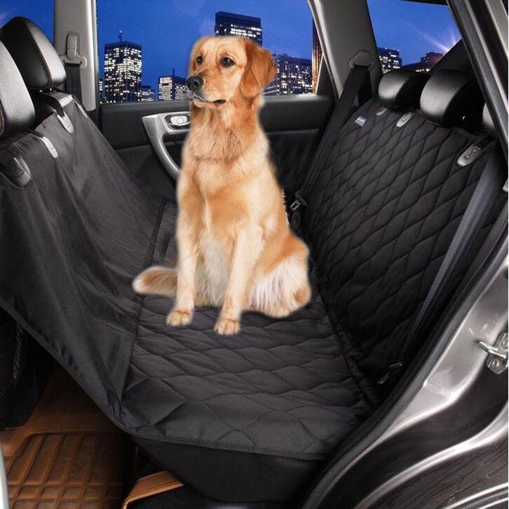 Высокое качество стеганые Собака Чехол для Автомобилей, собака покрытие автомобиля Собака Гамак без скольжения Оксфорд Водонепроницаемый гамак домашних животных купить на AliExpress