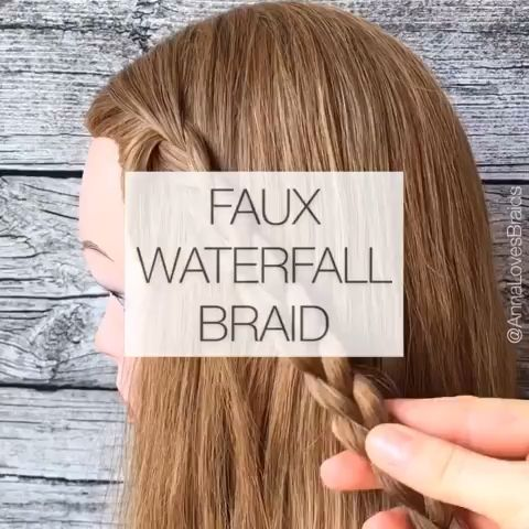 Faux Waterfall Braid😘 – jil