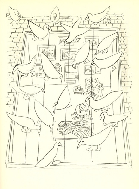 Nice perspective for a scene...mid century French illustrator Andre Francois