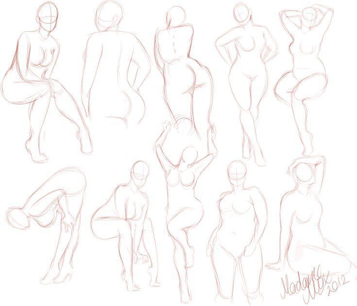 Curvy Girls Practice by *MadameNyx on deviantART