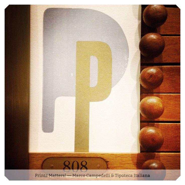 """— P — """"Print Matters!"""" è una collaborazione di Marco Campedelli & Tipoteca Italiana — presso Tipoteca Italiana. #printmatters! #marcocampedelli #tipotecaitaliana #letterpress #index"""