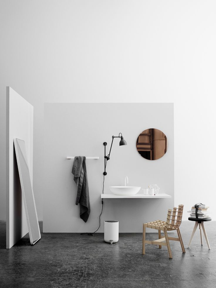 Menu Floor Mirror, White, by Norm Architects