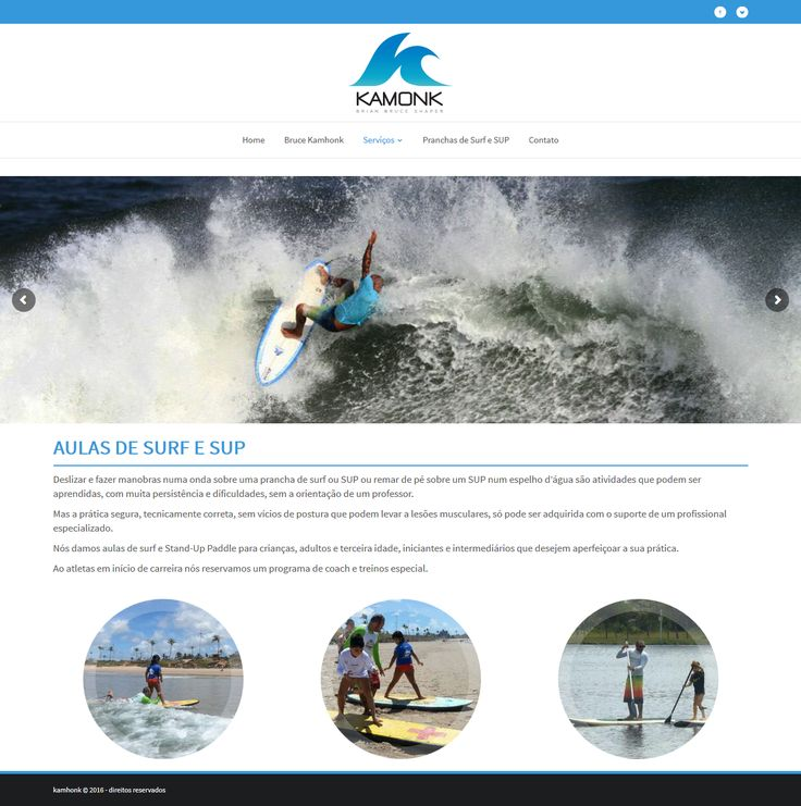 Website Bruce Kamhonk Pranchas de Surf e SUP