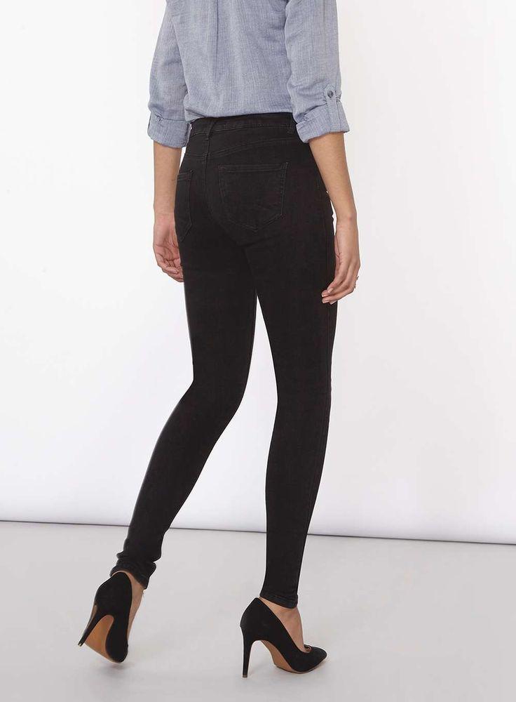 Womens Washed Black Premium 'Bailey' Super Skinny Stretch Jeans- Black