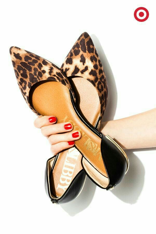 Sam and Libby leopard flats