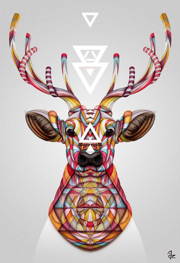 """""""Oh Deer!"""" digital painting  by Giulio Rossi https://goo.gl/rsA67T"""