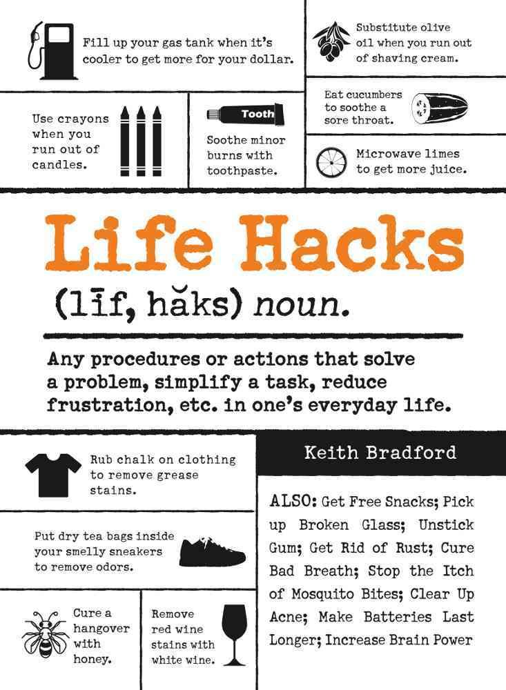 Simple solutions to everyday problems! Wouldn't it be nice if there were a way to make life easier? With Life Hacks, you'll find hundreds of methods that you can start using right now to simplify your