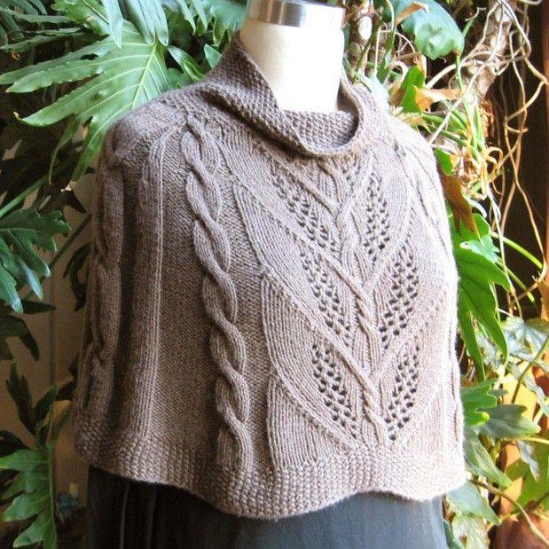 Knit Capelet Pattern : Sunday Knits Milkweed Capelet Knitting Pattern