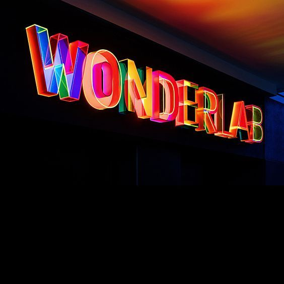 3D title for the new Wonderlab Gallery at The National Science and Media Museum in Bradford. Design by LucienneRoberts+. Typeface: Copy. Image: Luke Hayes. #copytypeface #lucienneroberts #fontseek #outofthedarktype #wonderlab
