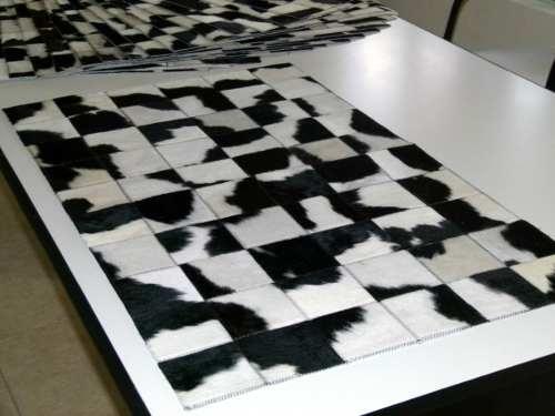 Alfombra Patchwork De Cuero De Vaca Con Pelo!!! 1.0m X 0.6m - 47 USD
