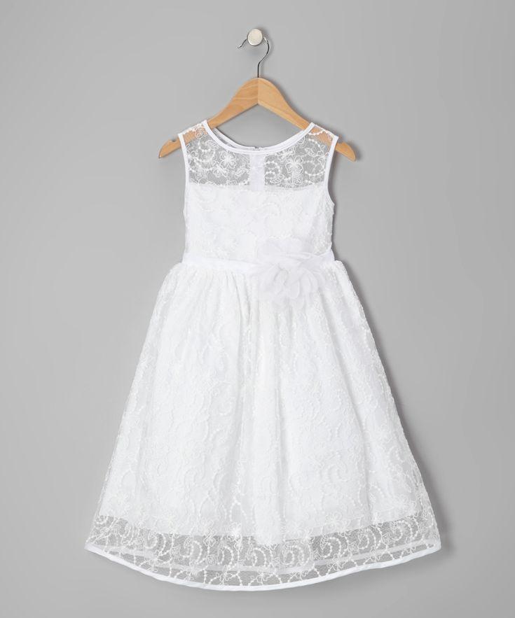 explore white flower girl dresses