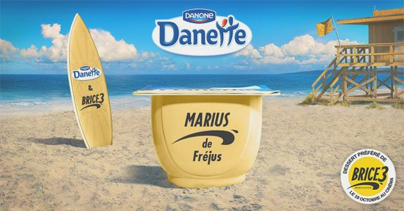 Co-branding déjanté entre Danette et Brice de Nice