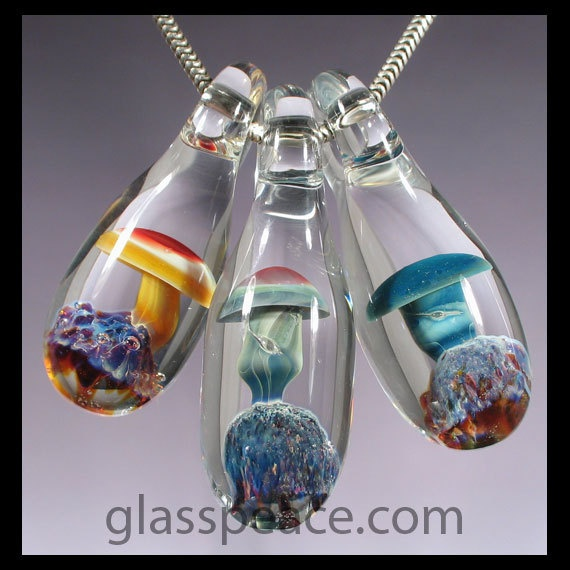 59 best glass mushroom beads images on pinterest glass mushrooms glass mushroom pendant wholesale lot of 3 lampwork by glasspeace 1995 aloadofball Choice Image