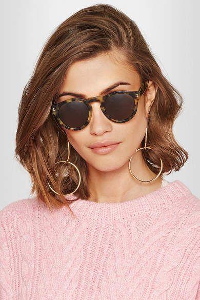 fdaba2cf10df Illesteva - Leonard Round-frame Acetate Sunglasses - Tortoiseshell |  Women's Sunglasses Eyewear