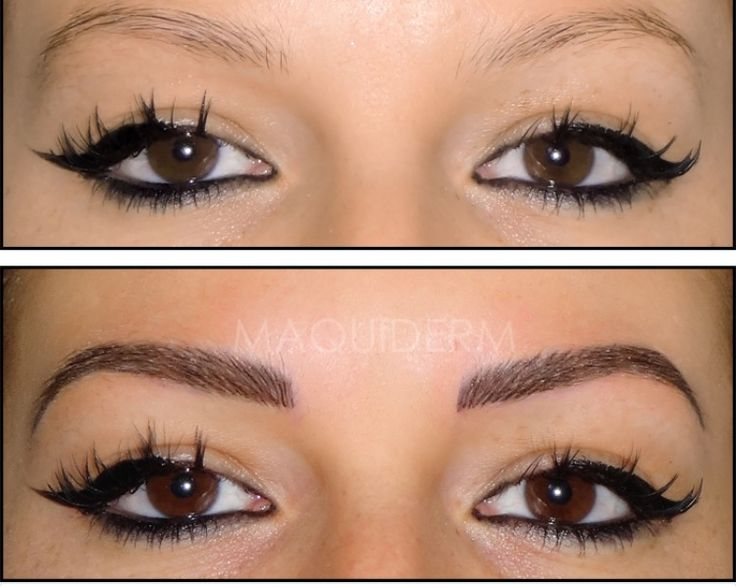 61 best microblading images on pinterest eye brows eyebrows and brow - Maquillage permanent sourcil poil poil ...
