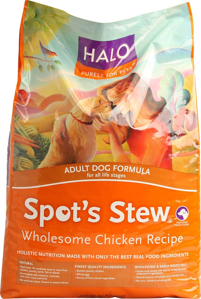 Halo Purely For Pets Spot's Stew® Adult Dog Formula Wholesome Chicken