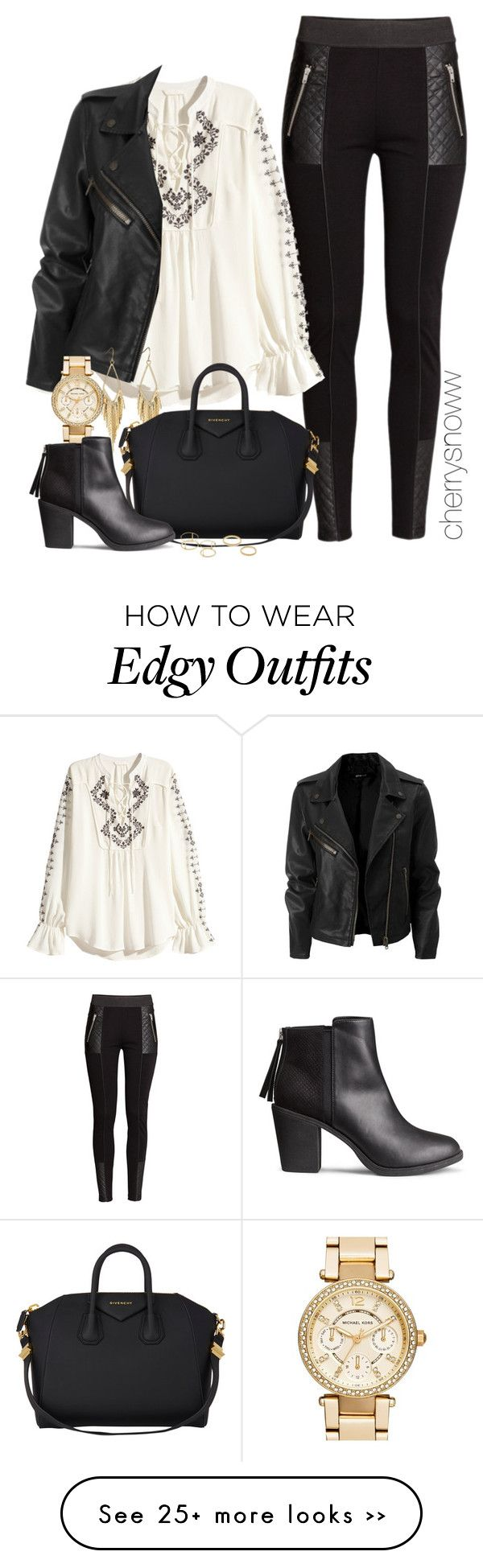 """Edgy boho chic fall outfit"" by cherrysnoww on Polyvore"