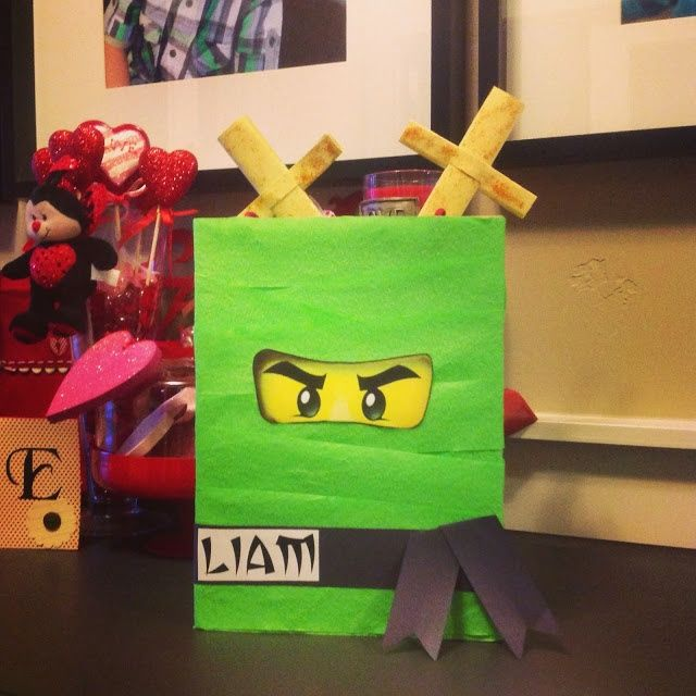Lego Ninjago DIY Valentine's day box idea for boys