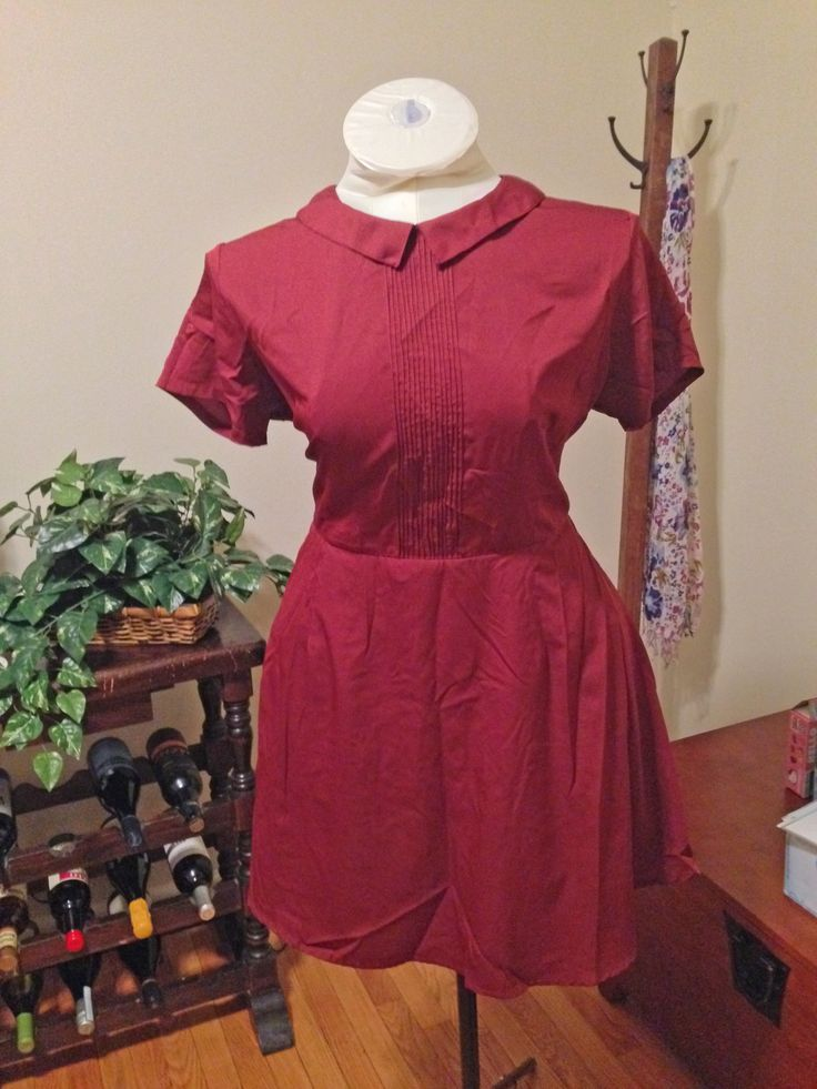 ASOS Skater Dress With Collar And Pintucks Size 14 - $25 shipped