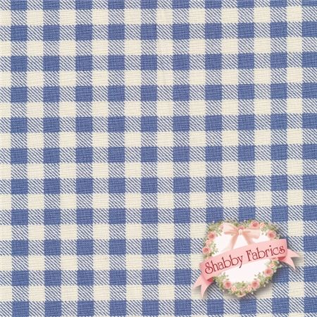 """French Market 8253-07 By Paula Scaletta For Blue Hill Fabrics: French Market is a collection by Paula Scaletta for Blue Hill Fabrics. 100% cotton. 43/44"""" wide. This fabric features a cream and blue gingham."""