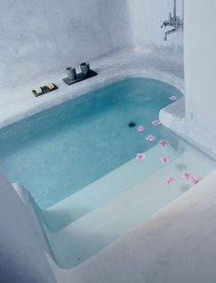 Walk-in bathtub.