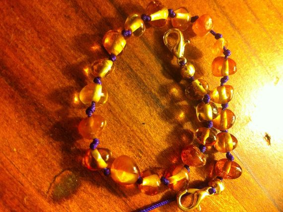 Baltic amber anklet / bracelet by BalticWonders on Etsy
