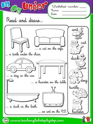 Preposition Worksheets For Grade 1