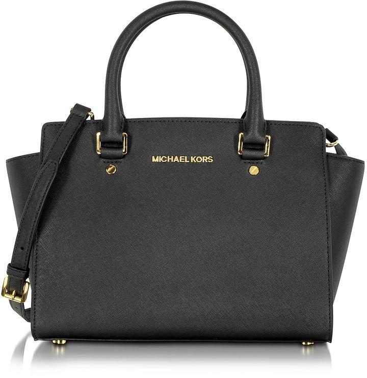 Michael Kors Selma Medium Saffiano Leather Top-Zip Satchel #mk #michaelkors  #watch �� Handbags ...