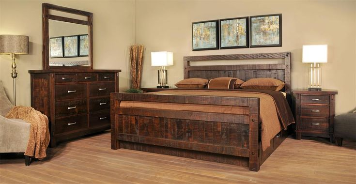 Bring rustic warmth to your bedroom with our Ruff Sawn Timber Bedroom Suite.
