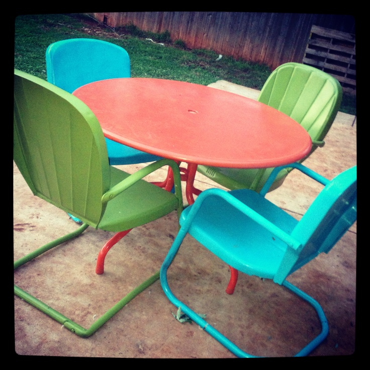 Vintage Patio Table And Chairs · Outdoor LifeOutdoor ...