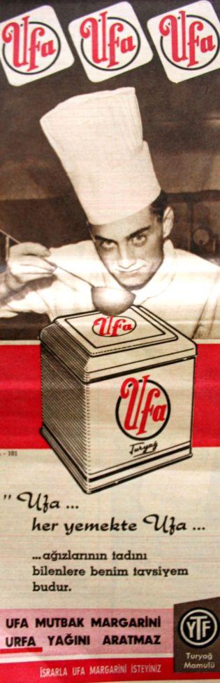 OĞUZ TOPOĞLU : ufa margarin turyağ 1960 senesi nostaljik eski mar...