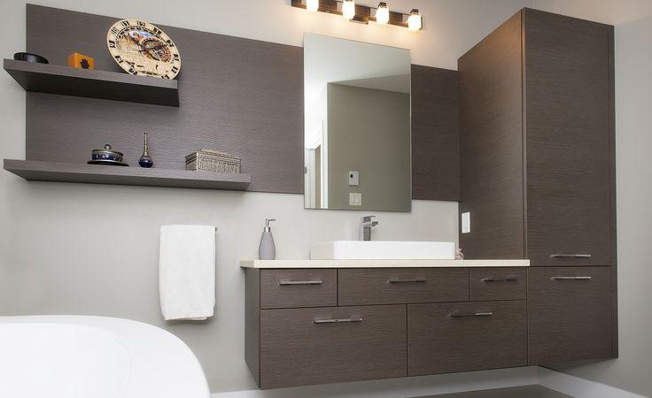 Salle de bain Choco Royal | Armoires Novaro cuisines et salles de bain