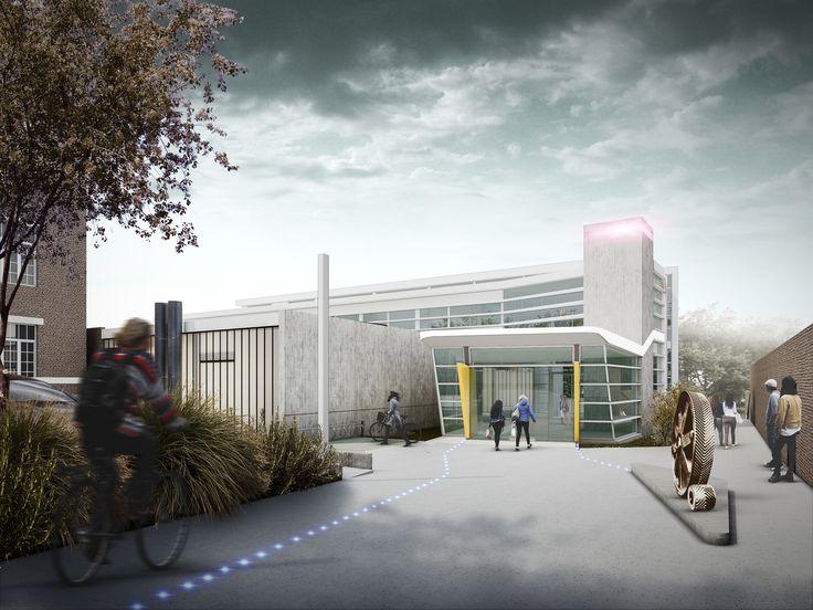 Espace de co-création multidisciplinaire à Namur. Architectes: Rémi Mouligneau, Level Architects, Atelier de l'Arbre d'Or. Image: www.perspectif.be