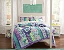 Purple and Teal Bedding - Surf Girl Bedding & Chatham Floral Patch Bedroom | PBteen
