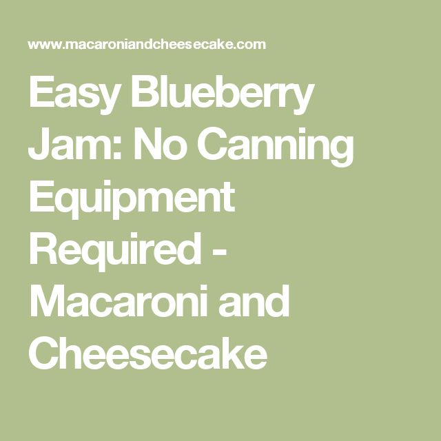 Easy Blueberry Jam: No Canning Equipment Required - Macaroni and Cheesecake