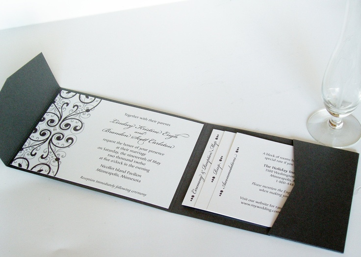 Wedding Invitation Pocket Folders: Pocket Folder - Concept Only