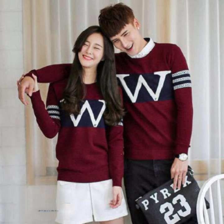 Kaos Couple Lengan Panjang Baju Couple Kaos Kapel Baju