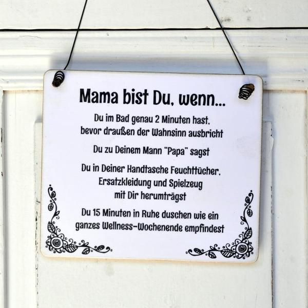 lustiges dekoschild schild mama bist du wenn von. Black Bedroom Furniture Sets. Home Design Ideas