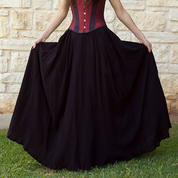 Etsy #FAEteam Black Gauze Renaissance Skirt by CrystalKittyCat on Etsy, $115.00