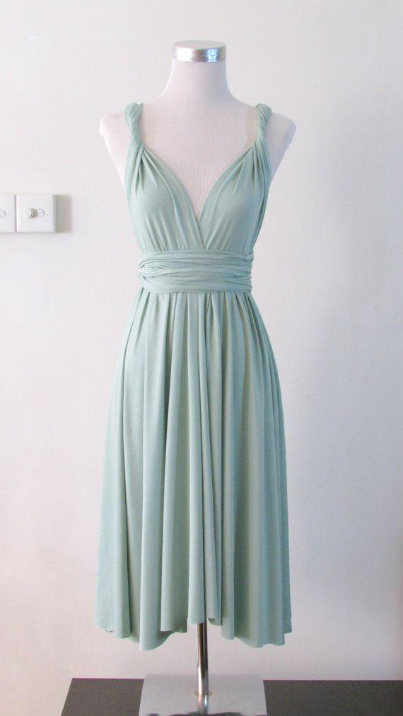 b44eaca50d6fd Pale Sage Green Bridesmaid Dresses.Summer Day Dress Convertible ...