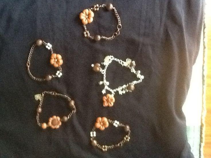 bracciali fiore  Bracciali in pasta di mais